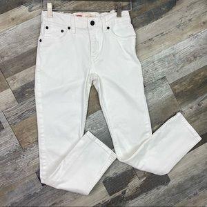 Levi's 510 12 REG W26 L26 skinny jeans white